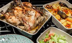 Helrostad kyckling med lime- och vitlökssmör - i Köket med Anders
