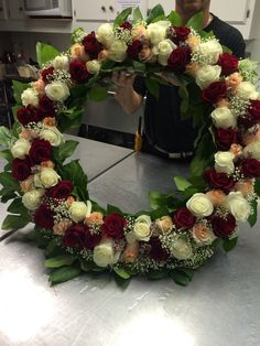The wreath to be placed on the cross during services for the death of Christ - Holy Thursday - St. Paul's Greek Orthodox Church, Irvine