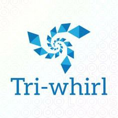 Tri-whirl logo Abstract design with diamond shapes positioned in a spiral design that create a bursting effect. (dots, circles, firework, explode, swirl, tornado, storm brain storm, hurricane, wind, windmill, live, technology, transfer, data, streaming, pattern, connecting, network, burst, bursting, galley, milky-way, tunnel, funnel, twirl, swirl, movement, tech, high-tech, internet)