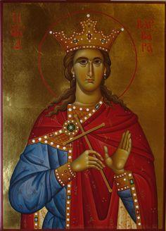 Αγία Βαρβάρα / Saint Barbara Religious Icons, Religious Art, Gypsy Rose, Byzantine Icons, Orthodox Icons, Nymph, Style Icons, Illusions, Saints