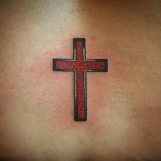 b4d7ae0f8 A simple cross. Hope everyone had a peaceful Sunday. #tattoo #cross #