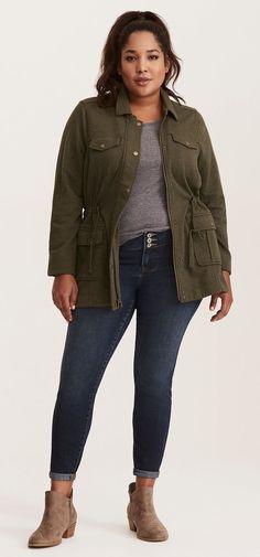 Plus Size Utility Jacket - Plus Size Fall Outfit - Plus Size Fashion for Women