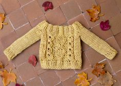 Knitted Blythe sweater mustard yellow by Katjuss on Etsy