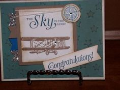 Image result for sky is the limit grad card stampin up