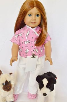 Brittany's - VET TECH OUTFIT , $21.99 (http://www.mybrittanys.com/american-girl-dress-up/vet-tech-outfit/)