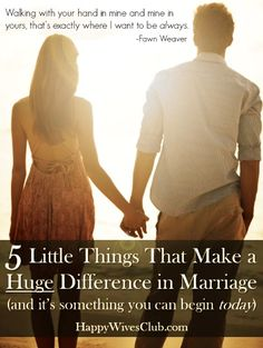 5 Little Things That Make a Huge Difference in #Marriage