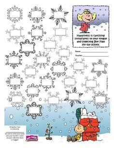 Box Tops Collection Sheet - #Peanuts #Christmas #CharlieBrown #BoxTops #btfe