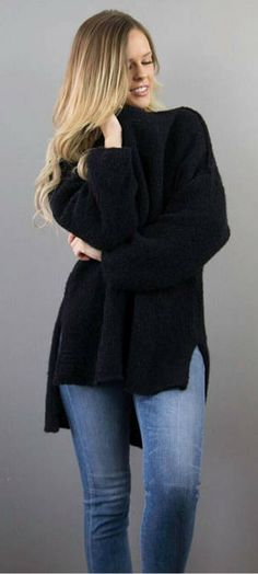 I love this very warm and comfy Alpaca Oversized knit sweater. Low/ High hemline woman sweater. Black knit sweater. NNT #affiliate #alpaca #oversize #sweaters #knitsweater I love this very warm and comfy Alpaca Oversized knit sweater. Low/ High hemline woman sweater. Black knit sweater. NNT #affiliate #alpaca #oversize #sweaters #knitsweater #winteroutfits