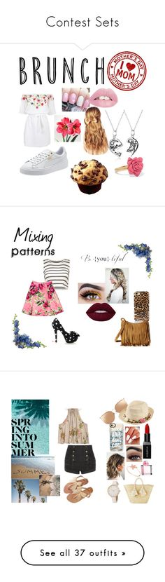 """""""Contest Sets"""" by moobearxoxo on Polyvore featuring Bling Jewelry, Pampelone, Marc by Marc Jacobs, Hershesons, MothersDay, brunch, mother, MothersDayBrunch, Love Moschino and Rebecca Minkoff"""