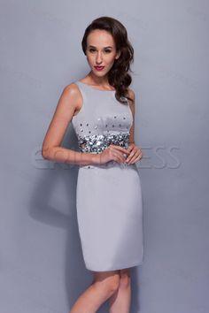 $ 108.29 Elegant Sequins A-Line Short/Mini-Length Round-Neck Renatas Mother Of The Bride Dress