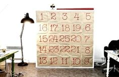 IKEA Hackers: Giant Advent calendar from Ikea Expedit unit