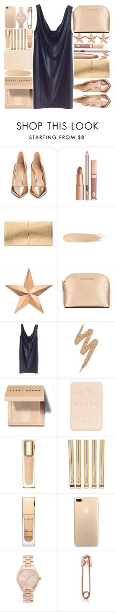 """""""Holiday Dress"""" by makfashions ❤ liked on Polyvore featuring Gianvito Rossi, Dolce Vita, Nina Ricci, Thos. Baker, MICHAEL Michael Kors, COS, Urban Decay, Bobbi Brown Cosmetics, Musgo Real and Clarins"""