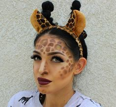 giraffe schminken erwachsene nase stirn wangenknochen
