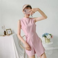Cotton Jumpsuit, Short Jumpsuit, Rompers Women, Jumpsuits For Women, Australian Models, Short Waist, Woman Standing, Playsuits, Comfortable Outfits