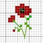 Kolye için Nakış Örnekleri 14 Tiny Cross Stitch, Cross Stitch Cards, Cross Stitch Flowers, Cross Stitch Designs, Cross Stitching, Cross Stitch Patterns, Blackwork Embroidery, Cross Stitch Embroidery, Embroidery Patterns