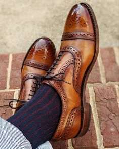 For your viewing pleasure. Strands with a custom patina paired with shadow stripe. Gents Fashion, Mens Fashion Shoes, Shoes Men, Burgundy Shoes, Brown Dress Shoes, Sock Shoes, Shoe Boots, Gents Shoes, Gentleman Shoes