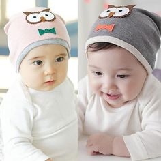 Baby Owl Print Cotton  Hat