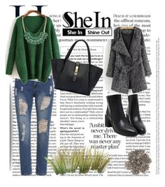 """Shein"" by merima-gutic ❤ liked on Polyvore featuring Alexander McQueen"