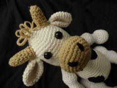 Kuscheltiere - Witzige Kuh mit Hörnern - ein Designerstück von live-life-cosy bei DaWanda
