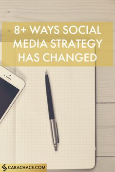 8+ Ways Social Media Strategy Has Changed: http://www.carachace.com/blog/8-ways-social-media-strategy-has-changed