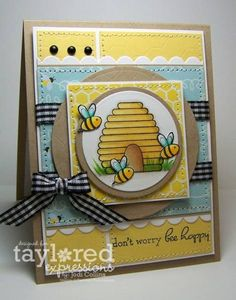 Don't Worry...Bee Happy! by Kharmagirl - Cards and Paper Crafts at Splitcoaststampers