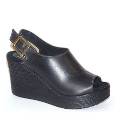 Look at this Black Mokandi Leather Wedge on #zulily today!