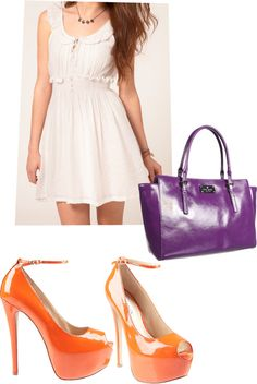 summer dress, created by nicseb23 on Polyvore