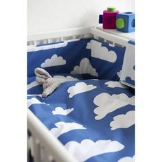 Blue cloud baby bedding