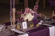 Fall Wedding Inspiration: Purple