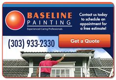 Experienced residential painters company Baseline Painting offers skilled and affordable top quality residential painter in Denver, Colorado. Contact us at 303-933-2330 and schedule an appointment for a free estimate.