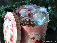 Caramelisas: Bolas de Navidad 3D, Christmas sphere cookies.