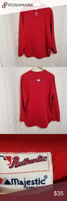 Texas Rangers Majestic Athletic sweater Pre-owned, comes from smoke/pet free home Majestic Sweaters Crewneck