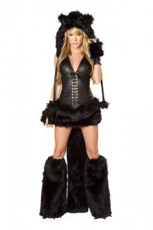 Wholesale Black Teddy Bear Costume for Adult Animal Cosplay Costume Halloween Costumes for Women Fantasia Cosplay Fancy Dress Black Cat Costumes, Girl Costumes, Adult Costumes, Costumes For Women, Cosplay Costumes, Cat Cosplay, Rave Costume, Punk Costume, Animal Halloween Costumes