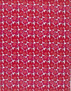Marimekko Mini Unikko Fabric Red/Pink/White | Kiitos Marimekko