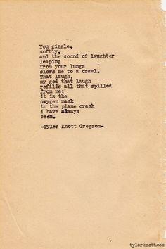 Typewriter Series #206 by Tyler Knott Gregson