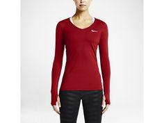 Nike Pro Long-Sleeve V-Neck Women's Training Shirt