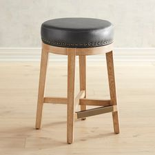 Hudson Pewter Counter & Bar Stools with Natural Stonewash Wood
