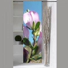 panneau japonais fleuri rose Celine, Glass Vase, Rose, Wall, Nature, Plants, Photos, Home Decor, Floral