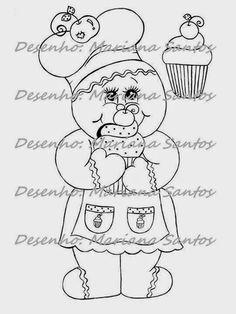 desenho boneca ginger com cupcakes