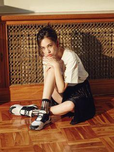 Kiko Mizuhara for Vogue Korea September 2015. Wearing Maison Kitsune x Reebok Classic. Edited by Team Mizuhara.