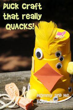 The Five Little Ducklings -- a duck craft that QUACKS! #readforgood