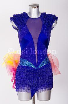 Karen Hauer sapphire Latin dress