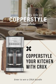 Discover the CRUX Copperstyle kitchen lookbook and fill the form to win your very own CRUX bundle. #CRUXCopperstyle
