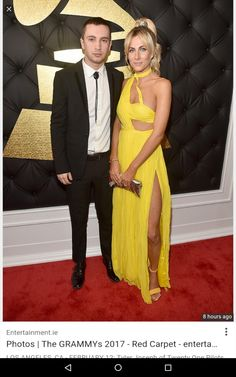 Tyler (Lead singer for Twenty One Pilots) and Jenna Joseph on Grammys Red Carpet