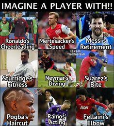 """Just Imagine "" #soccermemes #soccerfunny"