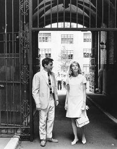 John Cassavetes and Mia Farrow in Rosemary's Baby, 1968 Fashion Tv, 1960s Fashion, John Cassavetes, Mona Lisa, Demon Baby, Rosemary's Baby, Mia Farrow, Roman Polanski, Rose Marie