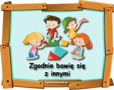Wizualizacja zasad przedszkolnych według planu daltońskiego - Pastelowe Kredki Montessori, Family Guy, How To Plan, Frame, Fictional Characters, Decor, Decorating, Inredning, Frames