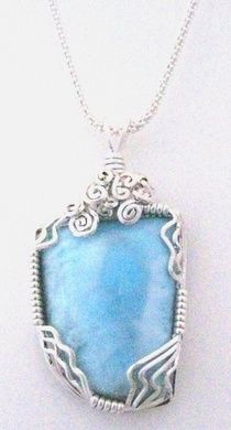 Sterling Silver Cage Style Danburite Crystal Pendant
