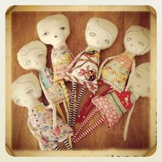 Dolls in progress. They will have to wait until I recover from surgery. They'll keep me company meantime. by Danita Art, via Flickr