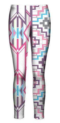 Pink Aztec Leggings